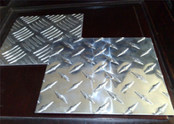 Architectural 3003 H14 Aluminum Checkered Plate With Five Bars ISO9001 Approval