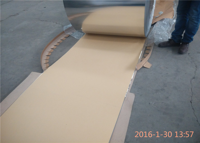 1050 1100 3003 Anodized Aluminum Coil Coated Kraft Paper Width 800mm - 1300mm